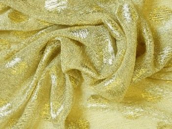 Gold with gold spot,  fine knit polyester BE0068