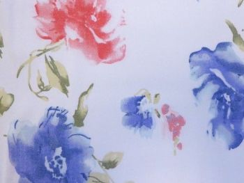 Large floral taffeta, polyester PL0200