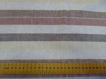 Wide stripe Linen Viscose LN0012