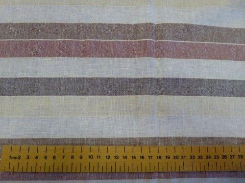Wide stripe Linen Viscose LN0012