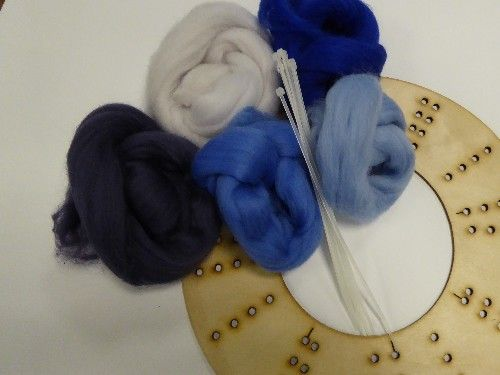 Wool Merino Wreath Kit