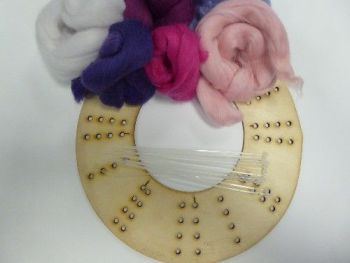 Wool Merino Pink Wreath Kit