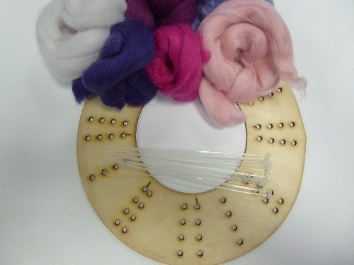 Wool Merino Plnk Wreath Kit