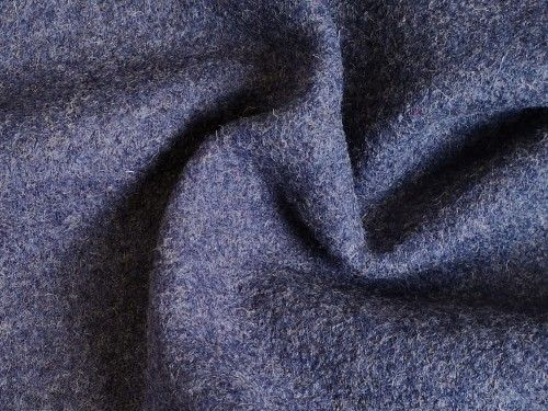 Blue marle wool viscose, BW0075