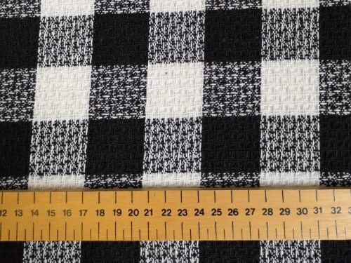 Black/white check Poly acrylic wool, BP0003