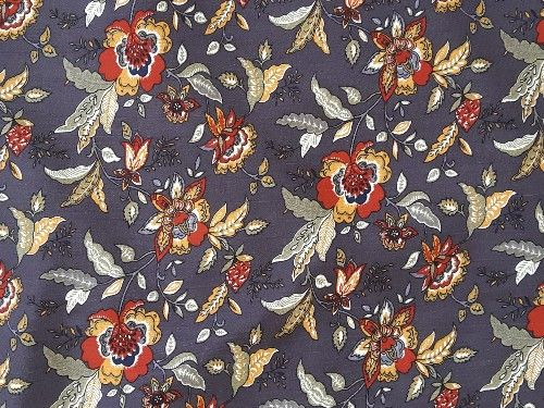 Grey floral Viscose, VC0015