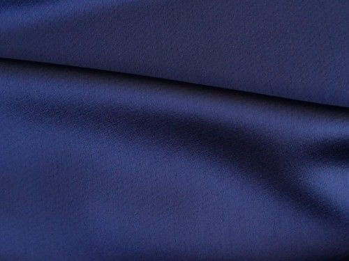 Dark Navy Satin Backed Crepe, BE0002
