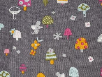 Toadstool and mouse Cotton CO1010