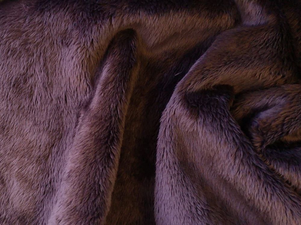 Chocolate Brown faux fur Polyester BP0009