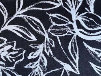 Black and white Cotton  97% Spandex 3% CS0011