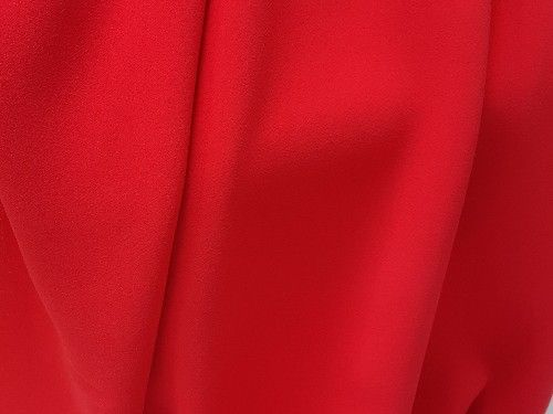 Poppy Red Triple Crepe, polyester BP0035