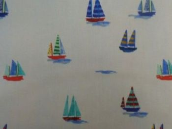 Sail boats Cotton lawn CO1026