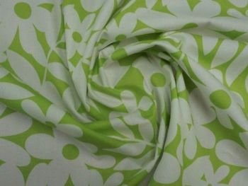 Lime Daisy  Cotton lawn CO1028