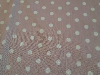 Pink with white spots Cotton  CO1218