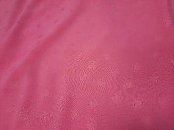 Candy pink jacquard spot Rayon  VC0047