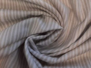 Brushed Flannel Cotton,   Grey and white stripe CO1241
