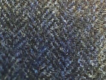 Blue Herringbone pure wool , BW0021