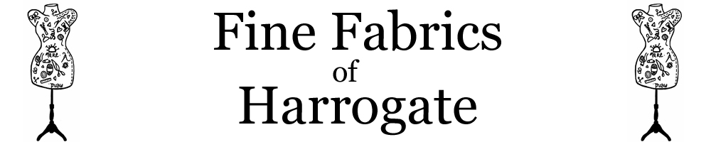 Fine Fabrics of Harrogate, site logo.
