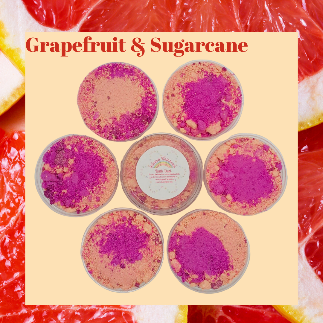 Grapefruit & Sugarcane Bath Dust