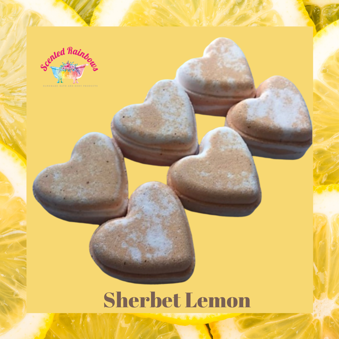 Sherbet Lemon Heart Bath Bomb