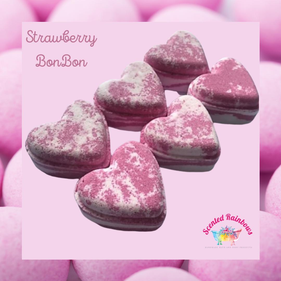 Strawberry BonBon Heart Bath Bomb