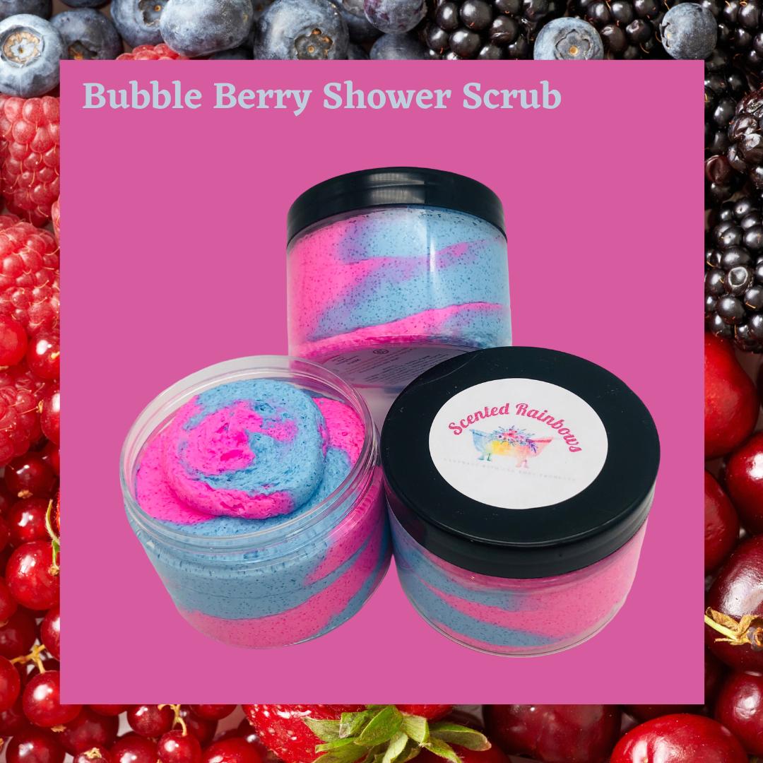 Bubble Berry Fluffy Shower Scrub