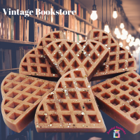 Vintage Bookstore Waffle