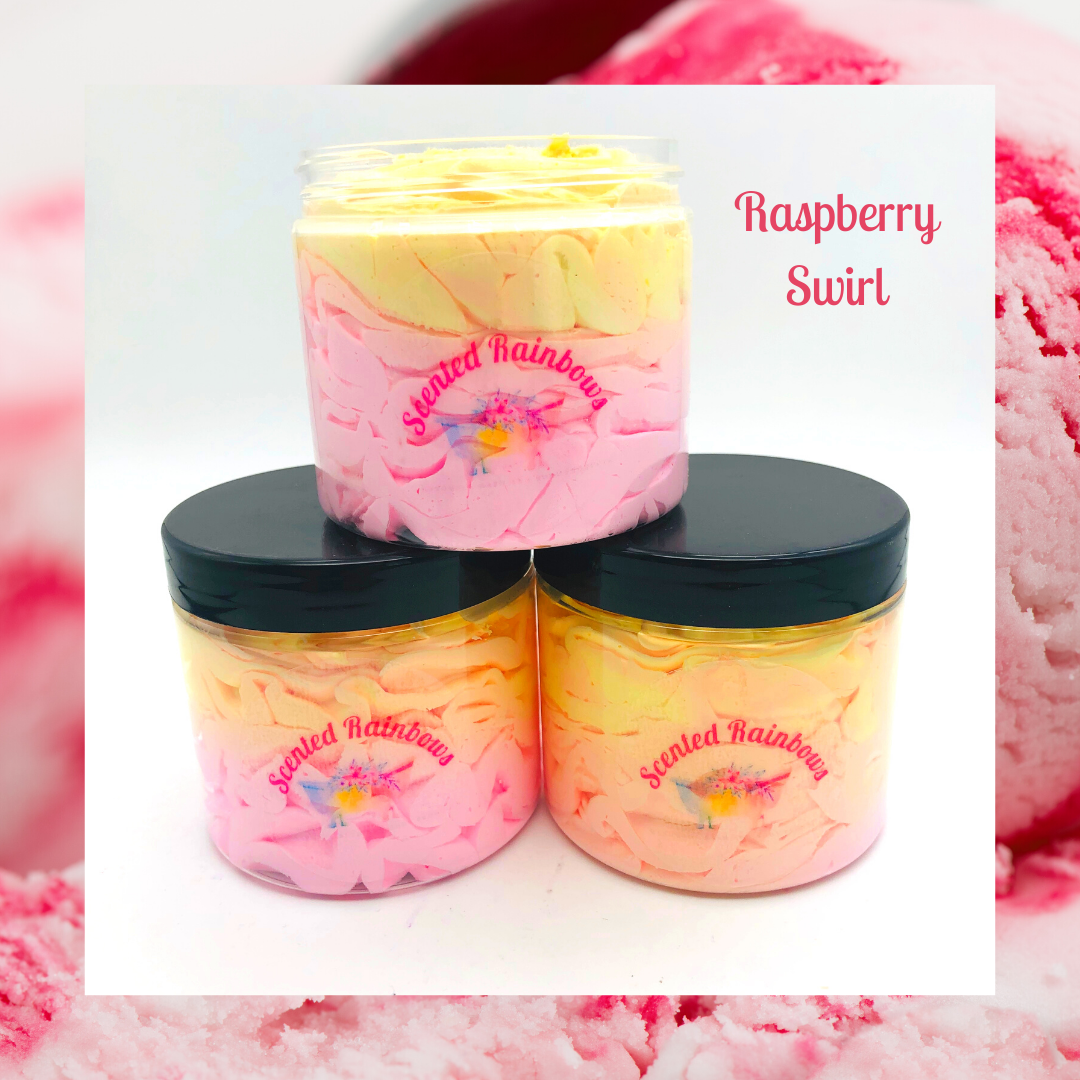 Raspberry Swirl Shower Fluff