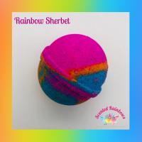 Fizzy Rainbow Bath Bomb