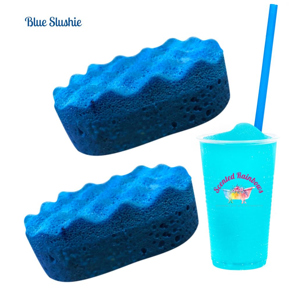 Blue Slushie Soap Sponge
