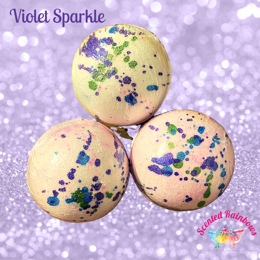 Violet Sparkles Bath Bomb