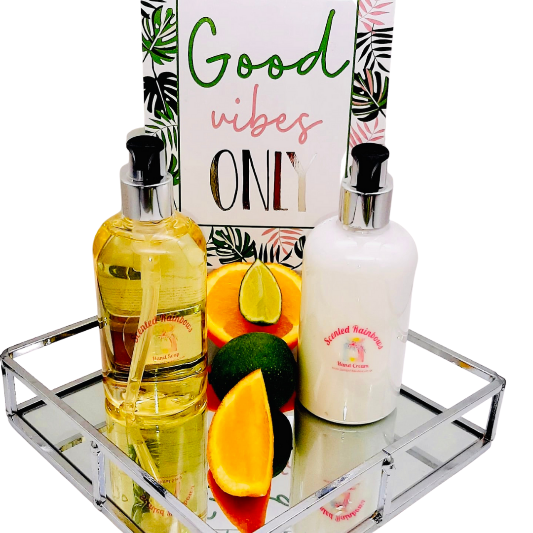 Lime, Basil & Mandarin Luxury Hand Wash & Lotion Set