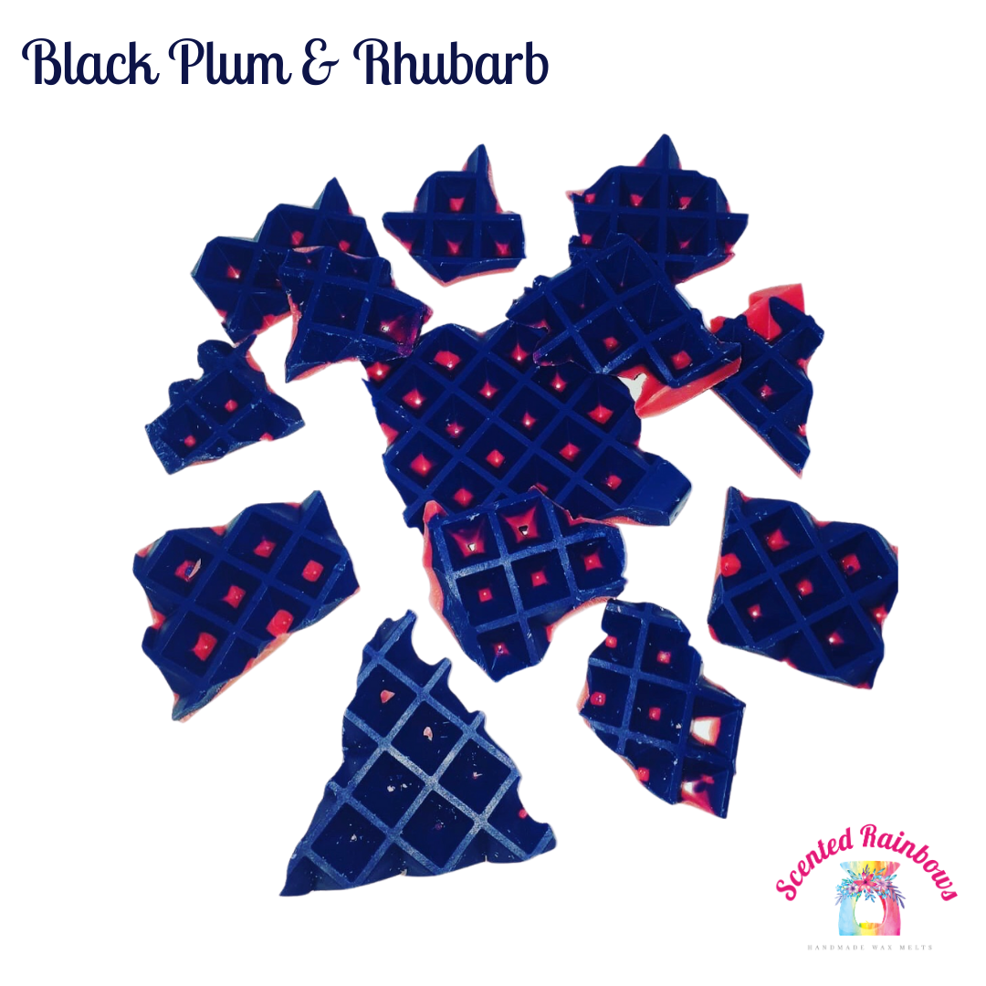 Black Plum & Rhubarb Brittle