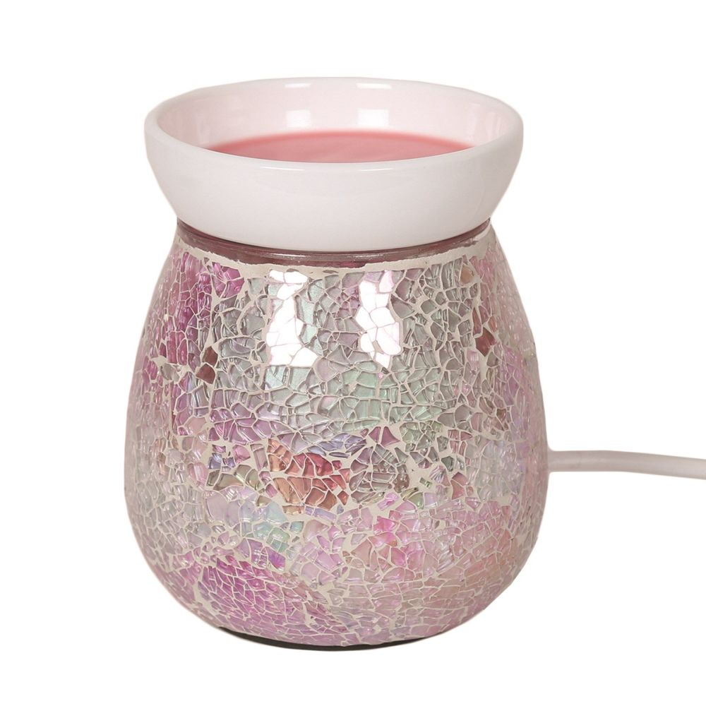 Electric pink crackle effect warmer