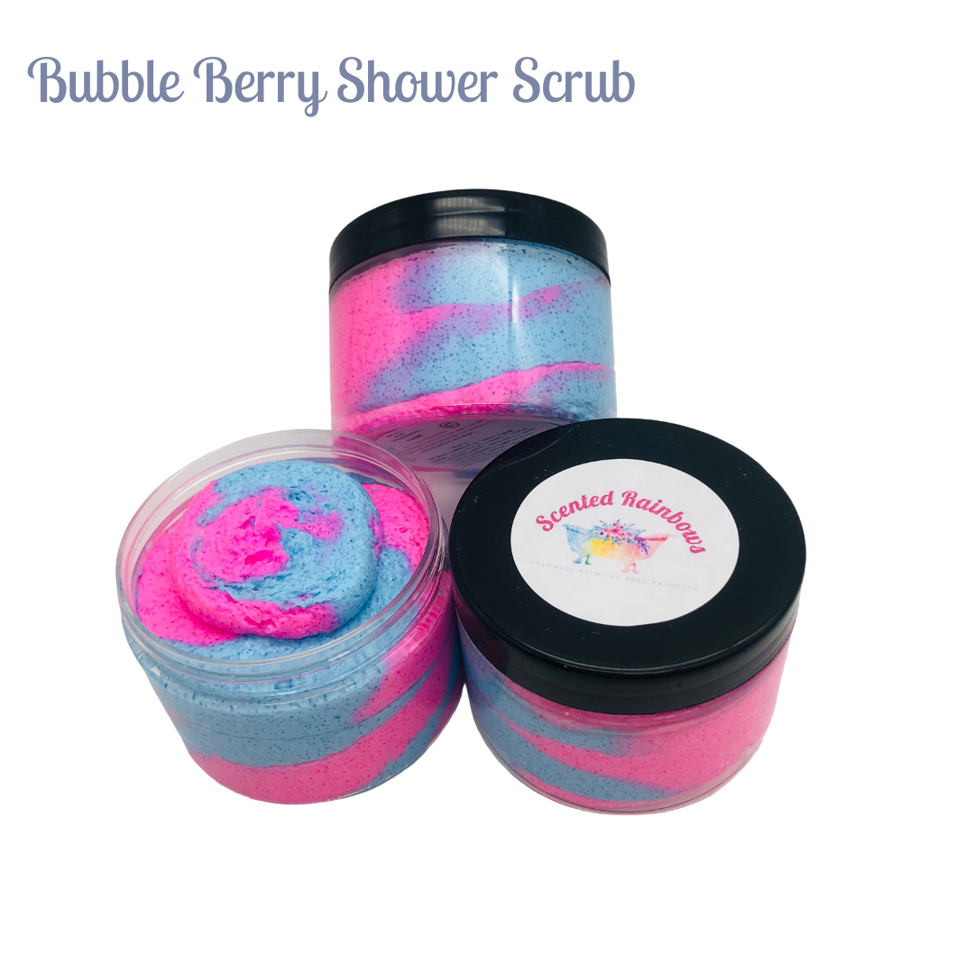 Bubble Berry Fluffy Shower Scrub