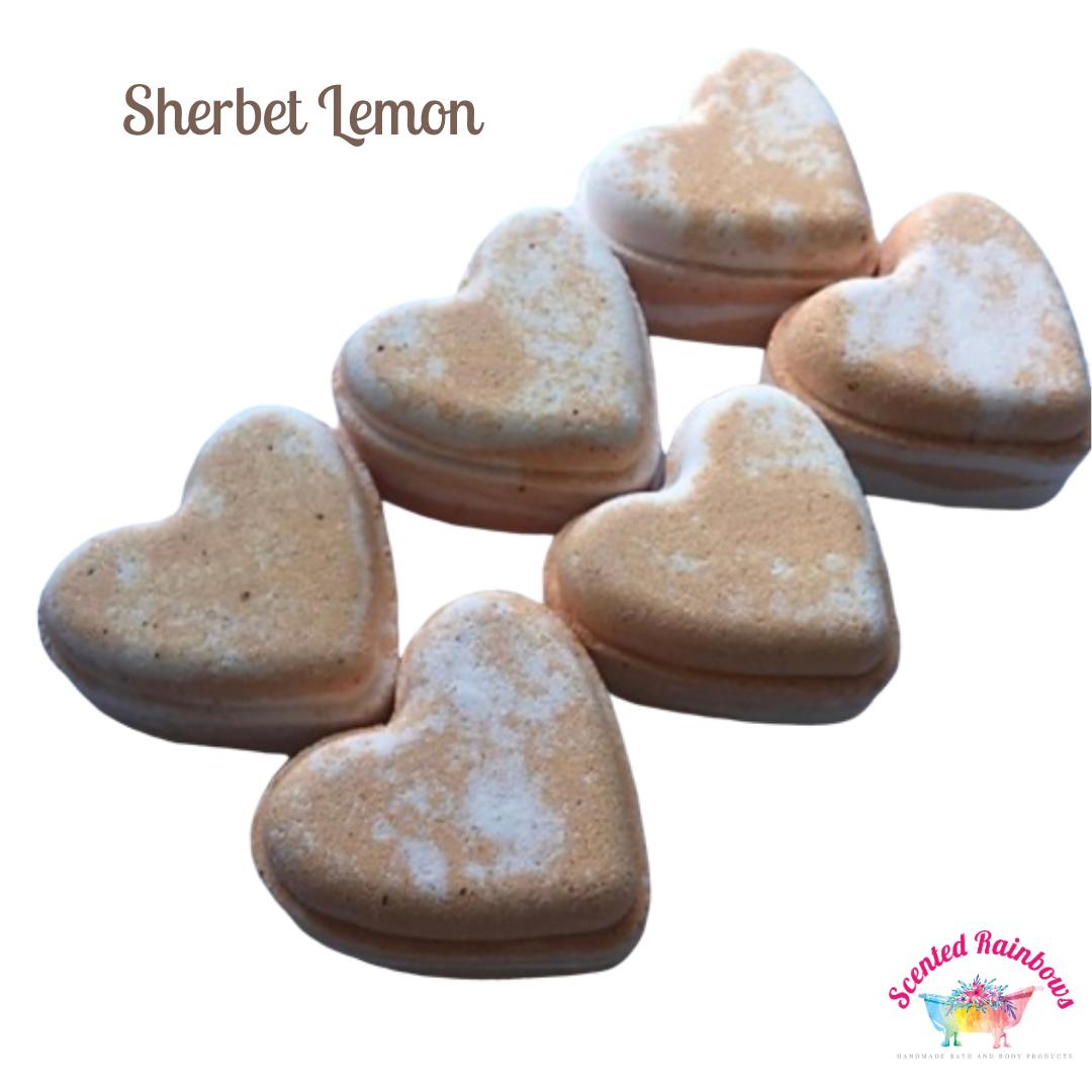Sherbet Lemon Heart Bath Bomb
