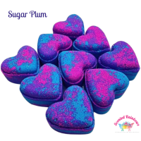 Sugar Plum Heart Bath Bomb