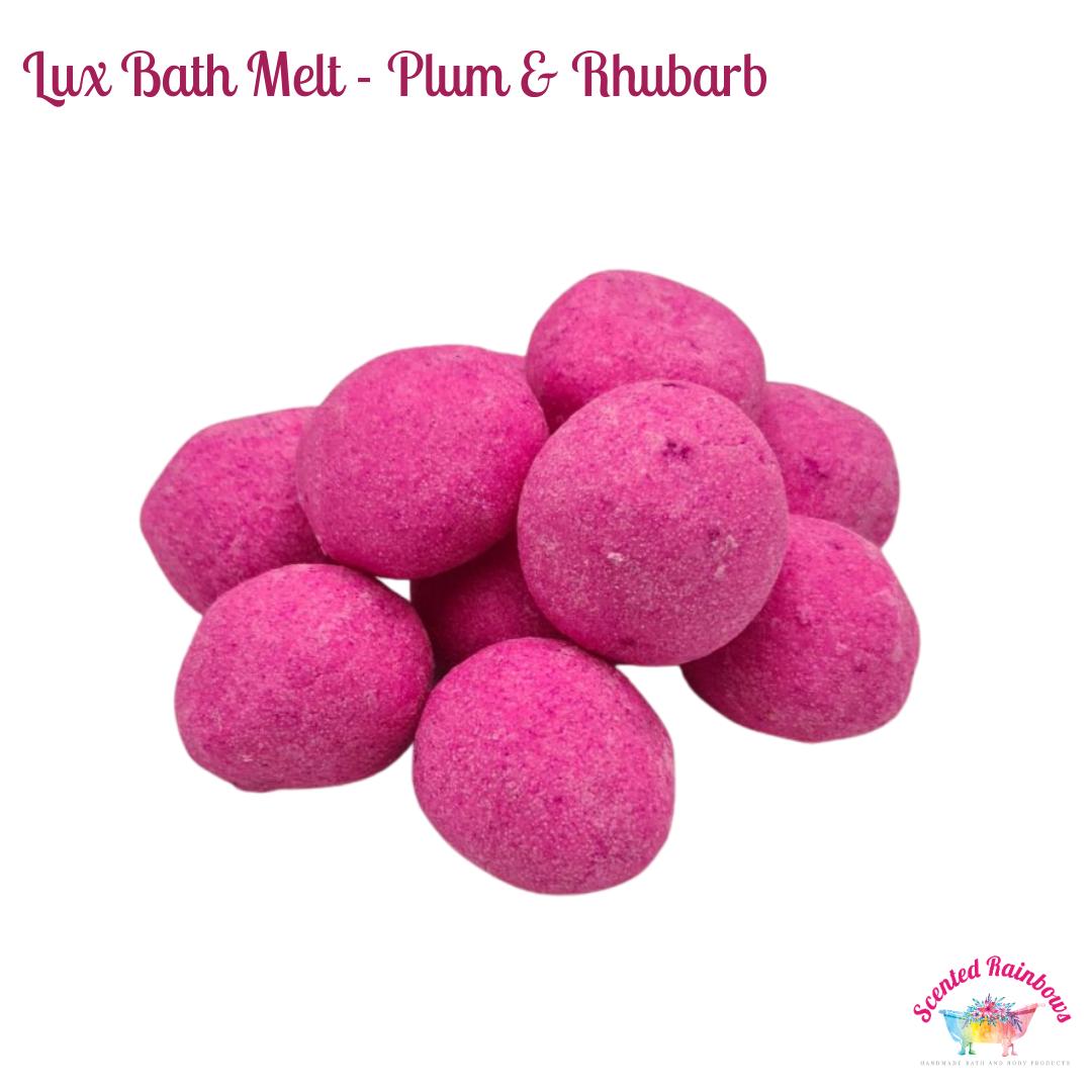 Plum & Rhubarb bath melt