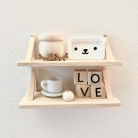 Wooden Shelf (New Colours)