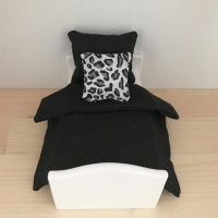 Black and White Leopard Print Cushion