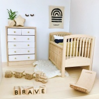 Natural Wooden Cot