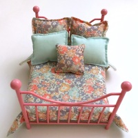 Pink Wire Double Bed