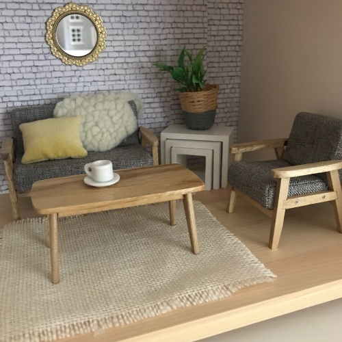 Mid Century Modern Wooden Coffee Table
