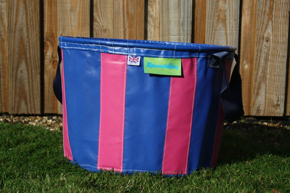 Navy Blue and Pink Large