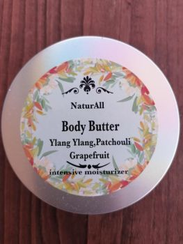 Body Butter Ylang Ylang  Patchouli ,Grapefruit