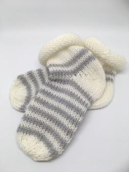 White & Grey Baby Socks