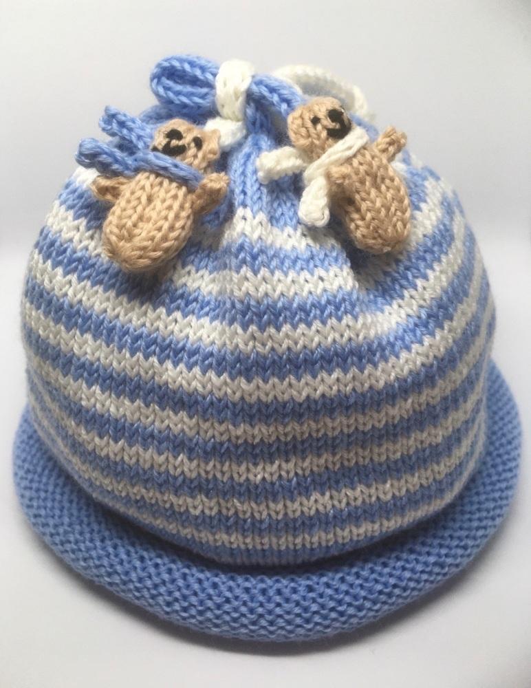 Pale Blue & White Hat