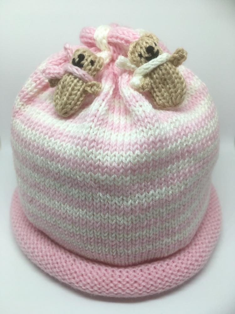 Pale Pink & White Hat
