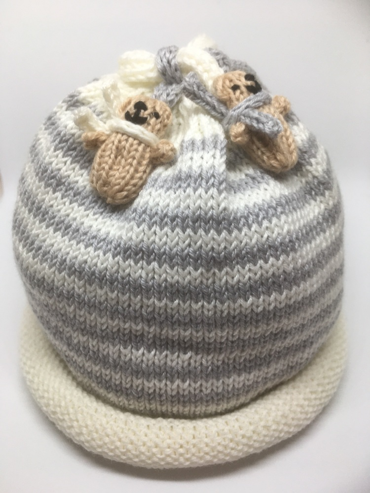White & Grey Hat