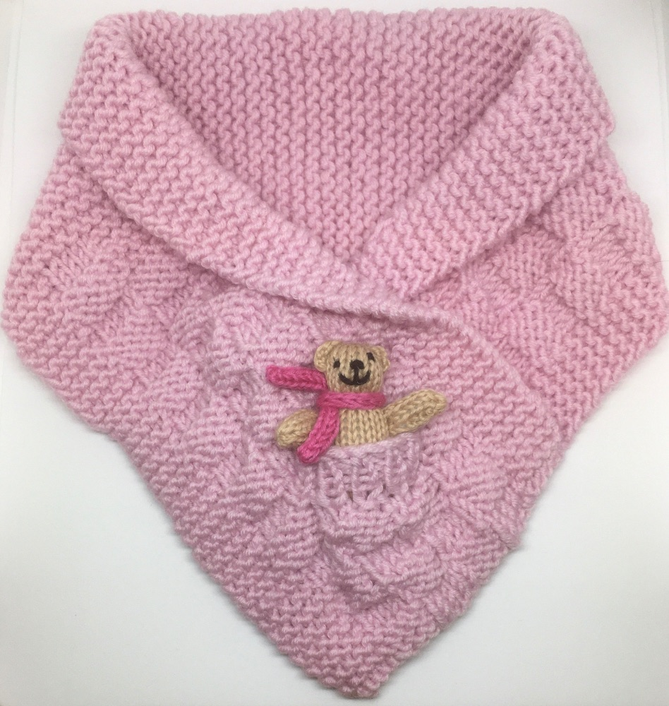 Hand Knitted Teddy Snuggle Neck Warmer